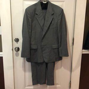 Other - Reposh- Grey plaid 2 piece men's suit 46L 38x32